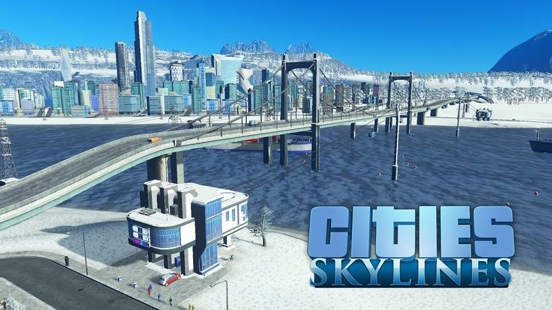 Сities Skylines - Канатная дорога, метро, дирижабль к новой деловой зоне и парку! 54