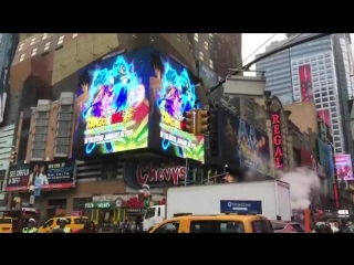 Dragonball super broly на time square.