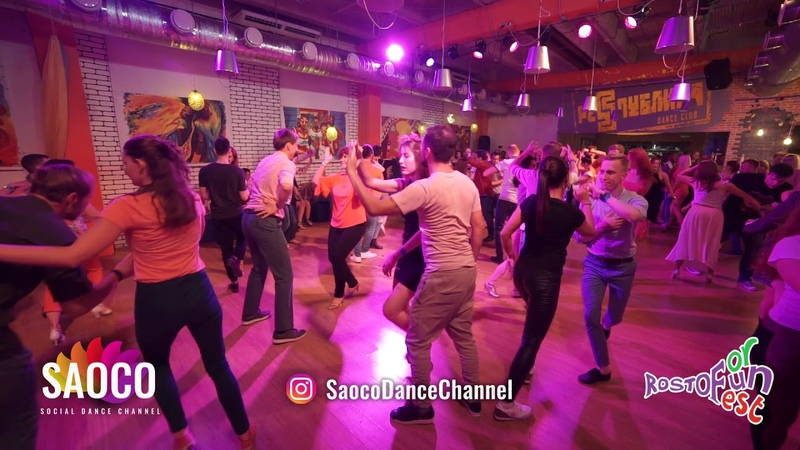 Vsevolod Bogomol and Olga Miroshnikova Salsa Dancing at Rostov For Fun Fest 2018 Fri 02 11 18 SC