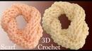Bufanda a Crochet en punto 3D trenzas panal o nido de abeja tejido tallermanualperu