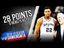 Rudy Gay Full Highlights 2018.10.10 Spurs vs Hawks - 28 Pts, 5 Asts! | FreeDawkins