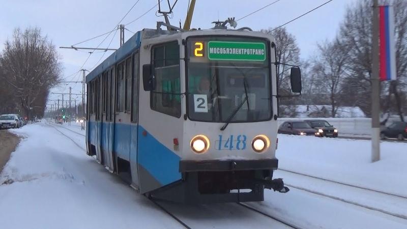 Трамвай 71-608КМ (КТМ-608КМ) №148 с маршрутом №2 Улица Спирина - Голутвин