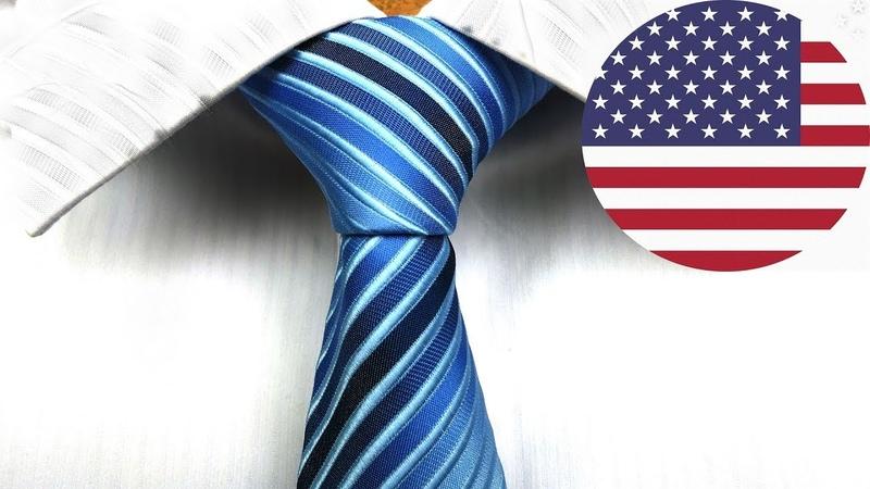 How to tie a tie - American Necktie knot (aka Pratt or Shelby knot)