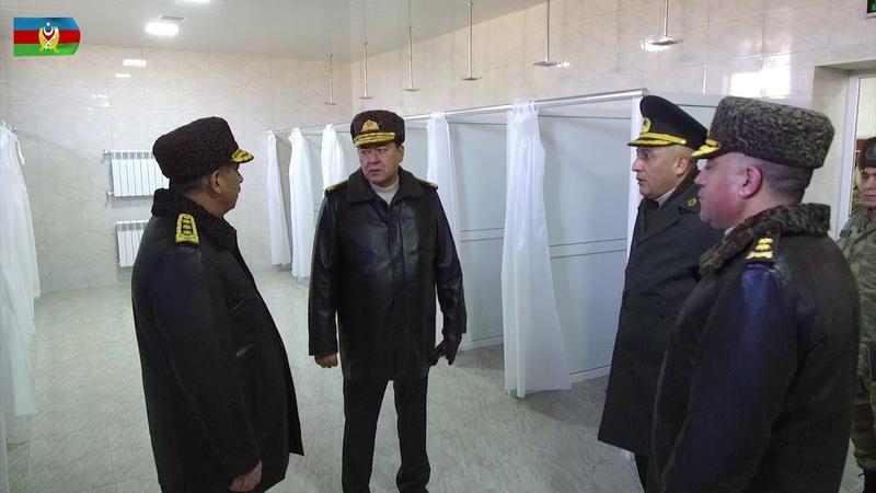 Müdafiə naziri yeni istifadəyə verilən obyektlərlə tanış olub - 22.01.2019