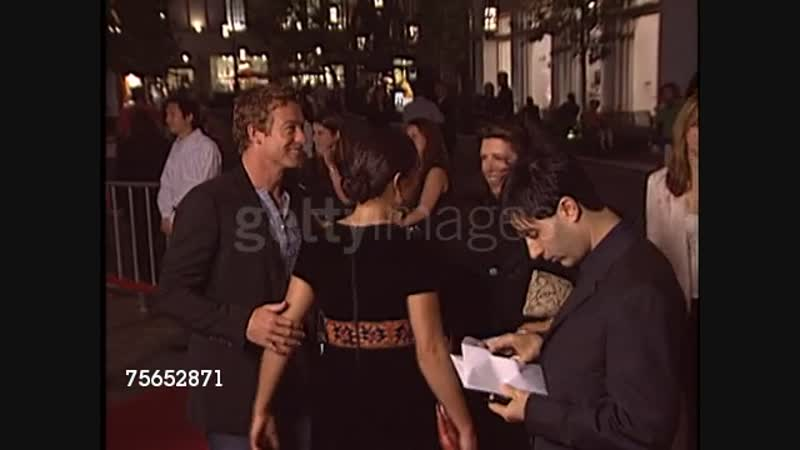 Simon Baker at the I Heart Huckabees Premiere at the Grove in Los Angeles, California on September 22, 2004. (Footage by WireI