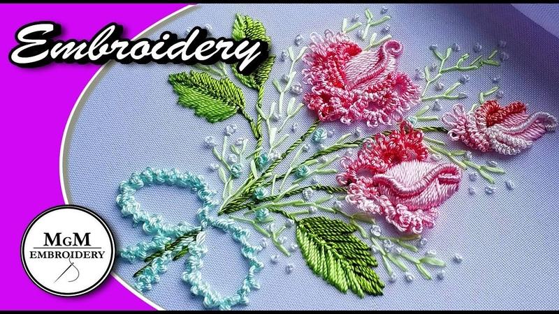 Embroidery Brazilian Rose 🌸Вышивка Бразильская Роза