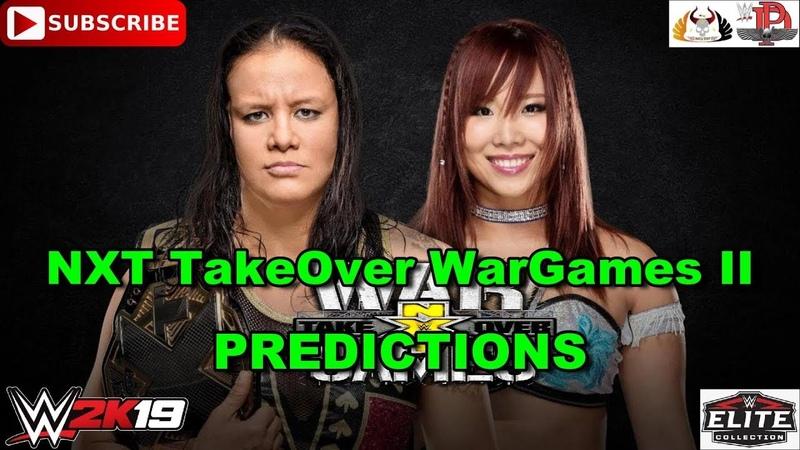 WWE NXT TakeOver WarGames II NXT Women's Championship Shayna Baszler vs. Kairi Sane WWE 2K19