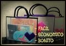DIY Bolsa hecha con malla y rafia para la escuela / organizador/ Varianidades D