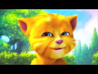Прикол смешной и прикольный котенок забавный котик кот кошка мультик для детей