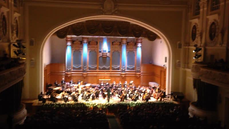 2018.12.14 Концерт в Московской консерватории. Дирижёр Д.Кирпанёв.