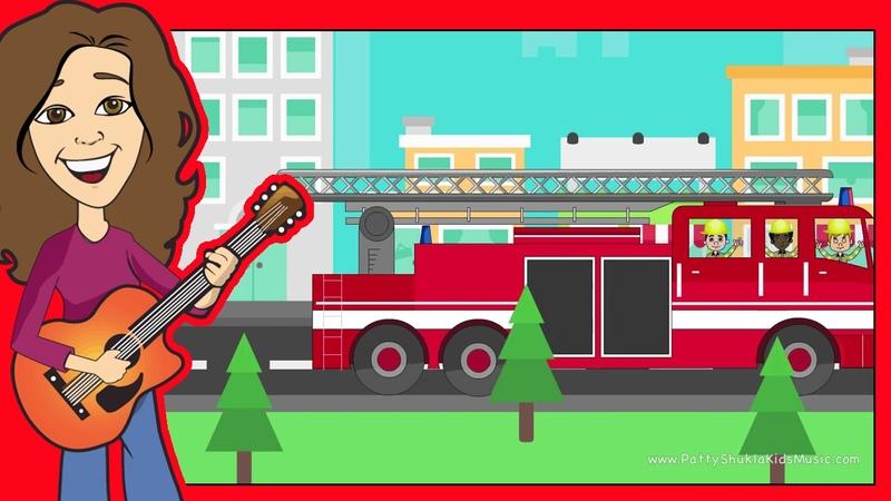 Fire Truck Song for Children and Kids   Cartoon, Fireman Nursery Rhymes   Patty Shukla