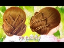 เกล้าผมรูปดอกบัว(เปียสาม) : Lotus Flower Braid Updo Hairstyle(3 Strand Braid)