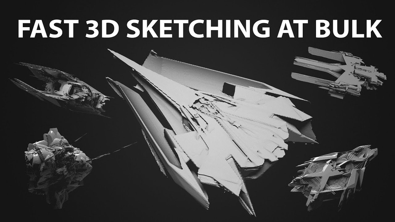 Voxel Sketching Multiple Ships in Minutes in 3D Coat
