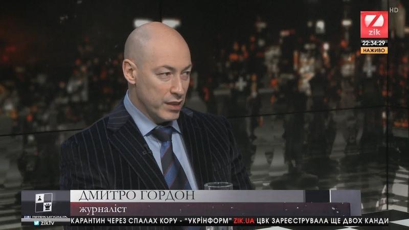 Дмитро Гордон, журналіст, у програмі Гра у класику