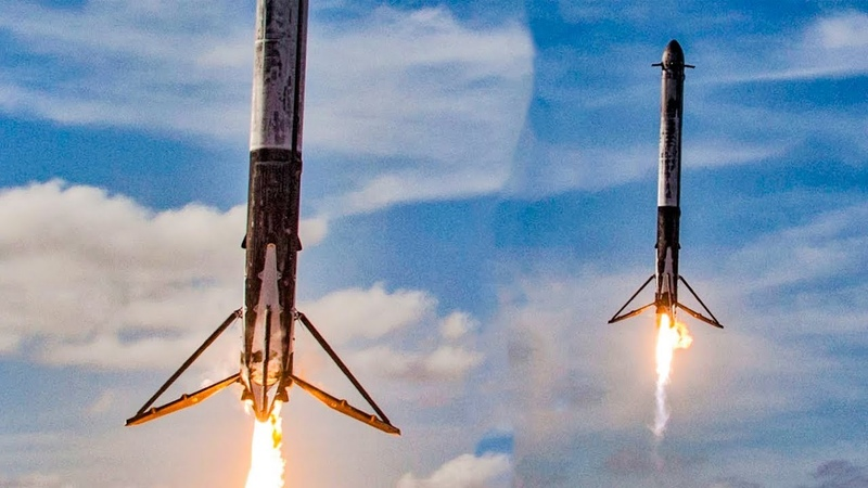 Falcon Heavy Launch in One Minute | Arabsat 6a