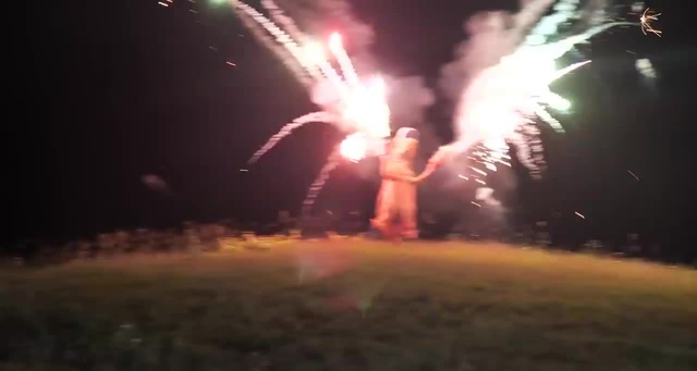 T REX ON THE 4TH OF JULY! (100 ROMAN CANDLES AT ONCE)