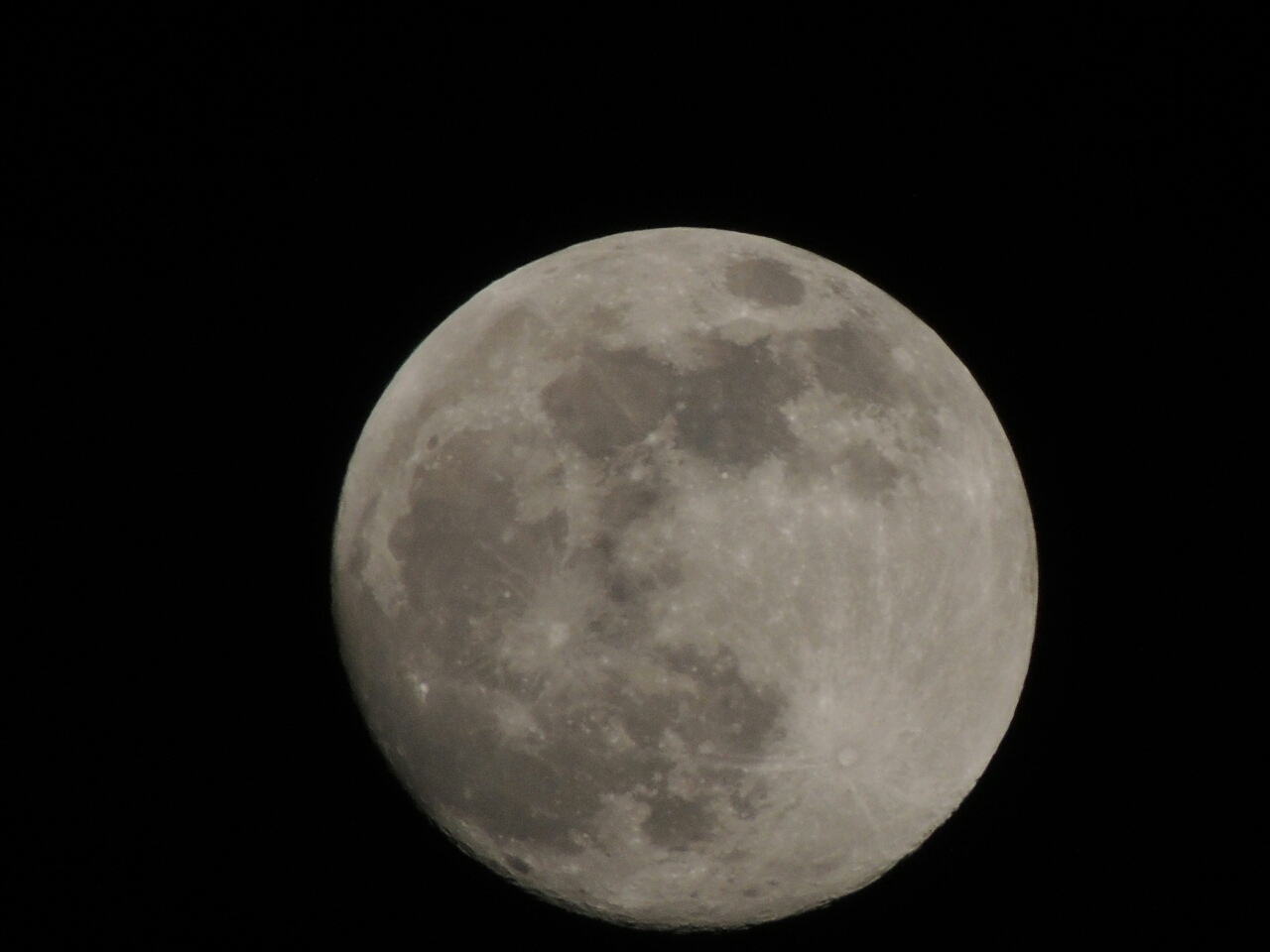 Сегодняшняя луна.