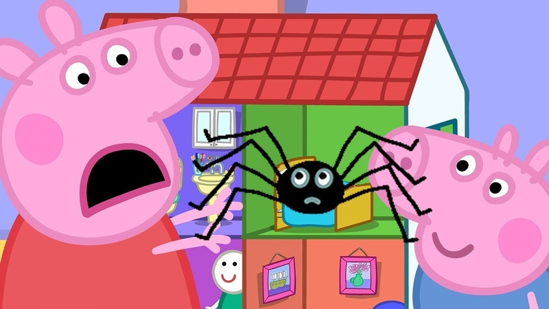 Свинка Пеппа на русском все серии подряд | паук! | Мультики