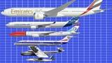 Size Comparison of Passenger Aircraft