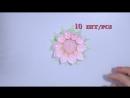 Мастер класс Канзаши Розы из атласных лент Резинки для волос of satin