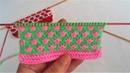 Iki renkli örgü modeli bebek örgü model Two Color Knitting Model