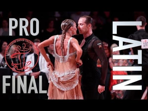 Winners Riccardo Cocchi - Yulia Zagoruychenko | United States Dancesport championships Latin Final
