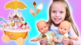 Alice PRETEND PLAY with ICE CREAM Cart Toys and Baby DOLL