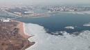 Как сходит лед с Финского залива. Таймлапс со шпиля Лахта Центра.