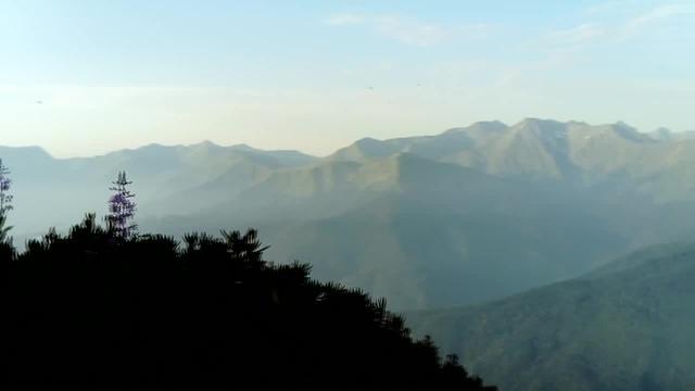 Mountains sun