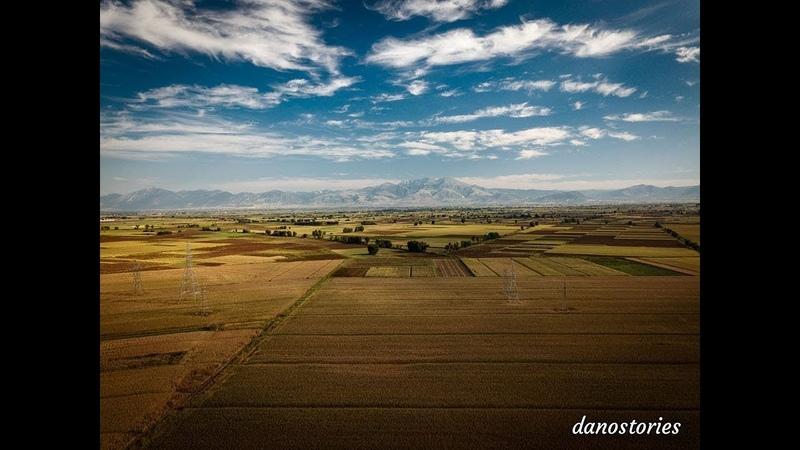 Outdoor footage in northern Greece by drone Снимки происходят с равнины префектур Драмы и Серра
