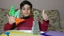 Объемная елка из бумаги своими руками 3D ЁЛКА из бумаги БЕЗ КЛЕЯ