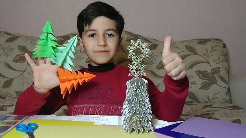 Объемная елка из бумаги своими руками.3D ЁЛКА из бумаги БЕЗ КЛЕЯ