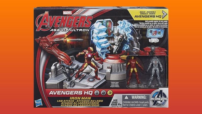 Marvel Avengers Age Of Ultron Iron Man Lab Attack Unboxing Review