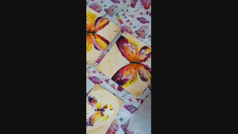 Как мы делали набрызг - живопись маслом - Солнечная бабочка г.Владимир - 20181101_175238