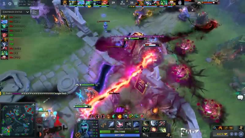 Despite the Wraith Kings buyback and Fnatic pushing us out of their base, N0tail just told us to stay in the trees and fight
