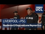Liverpool v PSG Henderson &amp Klopp welcome Neymar &amp Mbappe to Anfield No Filter UCL
