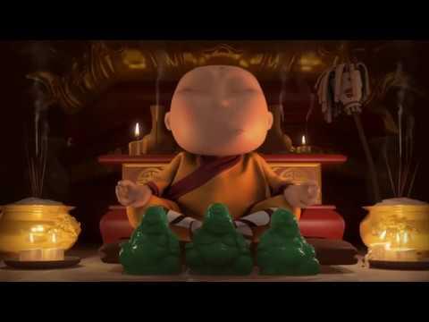 МАЛЕНЬКИЙ БУДДИЙСКИЙ МОНАХ анимацинный HD мультфильм Квантовый прыжок от Hayk Sahakyants