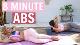 Rebecca Louise - 8 Minute Abs Flat Belly Exercises in RUSSIAN! Тренировка для пресса на русском языке
