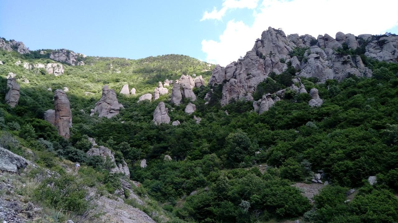 Трейл по Южной и Северной Демерджи, Козырек, Долина привидений