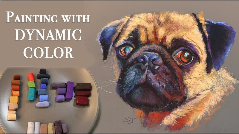 Spice up your art with Dynamic Color Pug Portrait