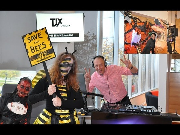 Halloween party with TJX Canada and DJ Dmitry Gagarin
