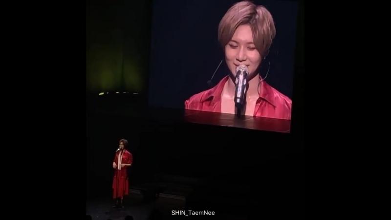 [FANCAM 8] 181008 talking - Taemin JAPAN 1st TOUR SIRIUS, Nagano