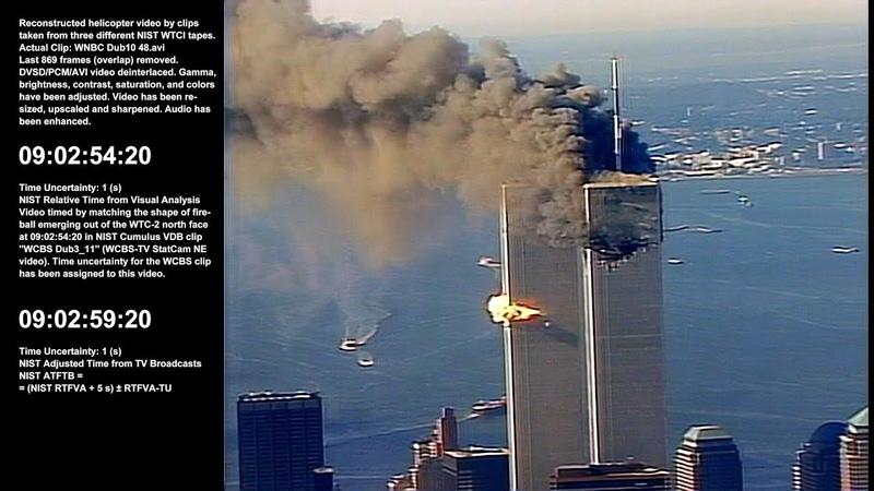 WTC 1 / 9:00:34am - 10:36:39am / NE, N NW / Raw Video by WNBC-TV Chopper 4 - Sel. Take 1 of 1