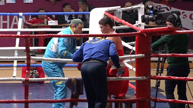 Бокс. Турнир Шопокова-2019. Финал. 57 кг Ильяс Сулейменов (Казахстан)-Альберт Батыргазиев (Россия)