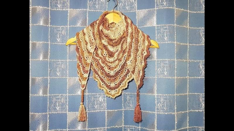 ВЯЖЕМ БАКТУС\ Шаль КРЮЧКОМ (3 часть). Вязание для начинающих. KNIT bactus\ shawl crochet