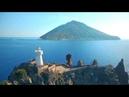 Drone Faro di Strombolicchio Isola di Stromboli