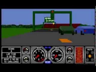 Hard Drivin - Mega Drive (Sega Genesis) - 1991