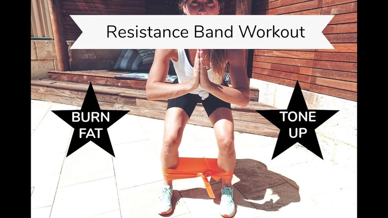 Resistance Band Home Workout for Leg and Glute Strength and Conditioning Great for Beginners