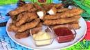 Куриные стрипсы как в KFC нежные кусочки куриного филе в панировке обжаренные во фритюре