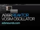 NI Reaktor - Creating a VOSIM Oscillator